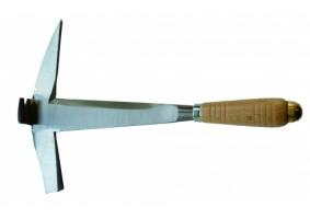 Ciocan de dulgher, forjat, mâner din lemn, cap lat, pe stanga, MACGS